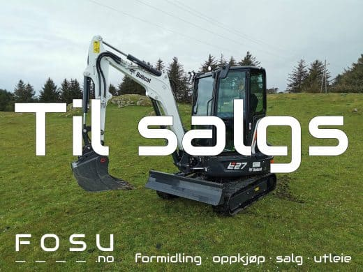 Bobcat E27 compact excavator for sale