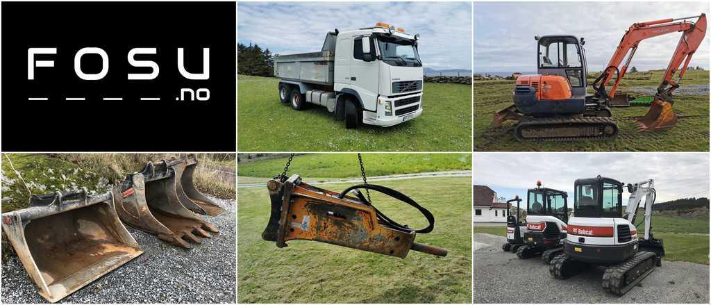 bobcat, lastebil, utstyr, pigghammer, minigraver, gravemaskin