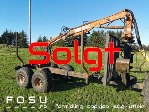 timber trailer with crane sold by FOSU