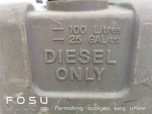 Transportvennlig dieseltank