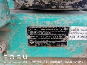 Mikasa plate compactor ID