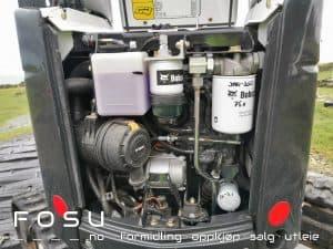 Motor minigraver, kompakt og god plassutnyttelse