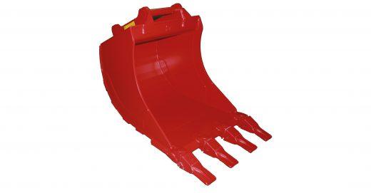 Standard graveskuff, passer til gravemaskin, minigraver og traktorgraver og leveres med hurtigfeste