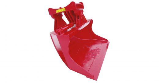 hydraulisk pusseskuffe til gravemaskin, minigraver og traktorgraver
