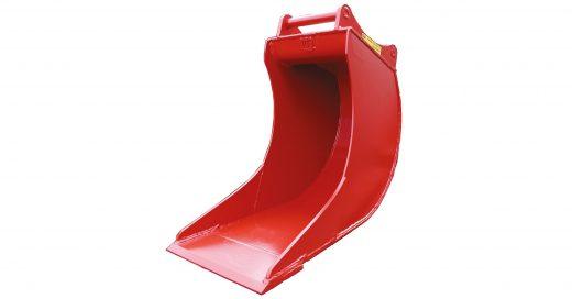 rød kabelskuffe til gravemaskin, minigraver eller traktorgraver